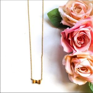 Kate Spade Jewelry Dainty Gold Tone Bow Necklace